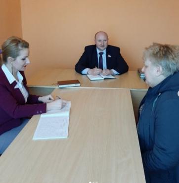 Первый прием граждан по личным вопросам в г. Микашевичи